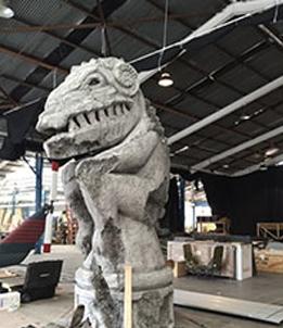 Dinosaur Created With Foam